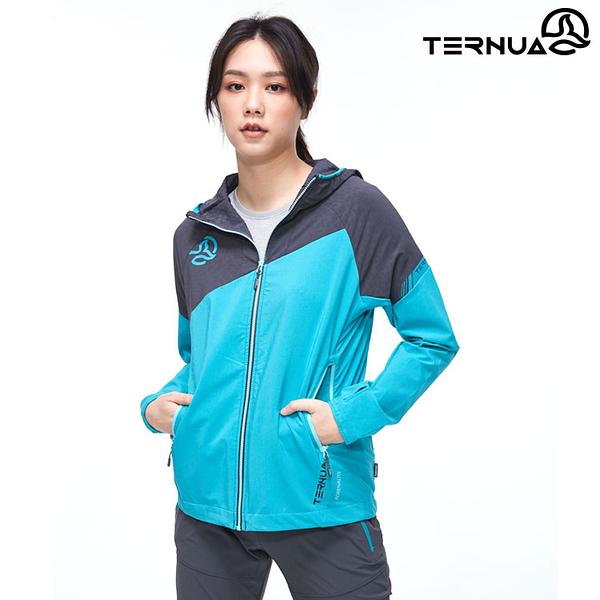 TERNUA 女 Stormfleece連帽外套1643354 AF / 城市綠洲(輕量透氣、彈性、防曬、防風、防潑水)