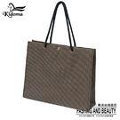 手提袋-編織袋(L)-咖啡黑-01C