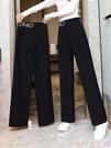 寬管褲 闊腿褲女春夏薄款女褲夏2021新款高腰垂感休閒寬鬆直筒西裝褲女夏