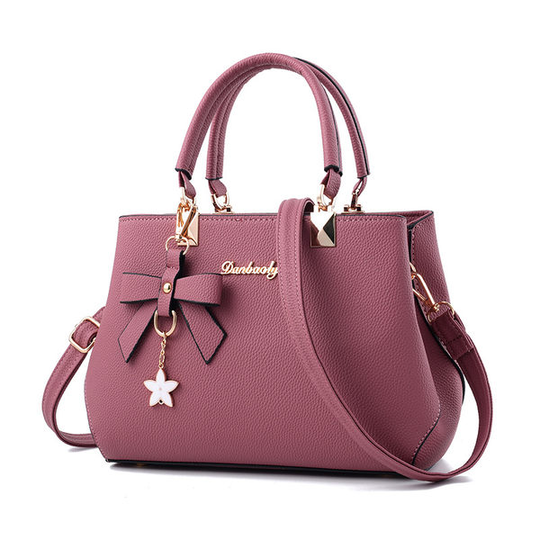 手提包 時尚新潮簡約手提包/側背包/斜背包 共4色-0102花卉【寶來小舖Bolai】現貨販售