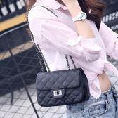 菱格小香風女式2019時尚新款韓版單肩斜跨鏈條包百搭小包  後街五號
