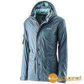 荒野 Wildland 男 絲絨防潑防風保暖外套 『藍綠』A22916