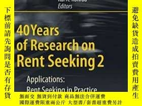 二手書博民逛書店40罕見Years Of Research On Rent Seeking 2Y255562 Congleto