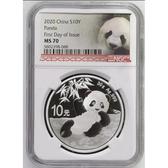 [預購]2020熊貓30克銀幣-NGC70分版本