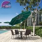 遮阳伞 中柱傘戶外遮陽傘花園太陽傘手搖傘庭院傘咖啡廳露臺桌椅傘 莎拉嘿呦