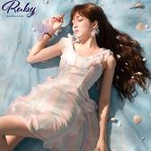 洋裝 渲染荷葉無袖洋裝-Ruby s 露比午茶