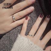 戒指-999純銀情侶戒指一對男女對戒日韓飾品學生活口簡約定制個性刻字 好再來小屋