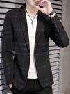 冬季休閒西服男士上衣單件外套韓版修身商務潮流英倫風帥氣小西裝 黛尼時尚精品
