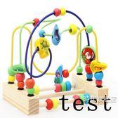 (交換禮物)兒童繞珠嬰兒玩具積木6-12個月男孩女孩1-2-3歲寶寶益智早教串珠
