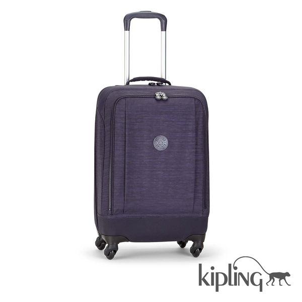 Kipling 灰紫素面行李箱-大
