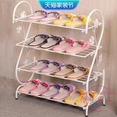 鞋架 北歐鞋架簡易門口家用經濟型鐵藝簡約宿舍收納置物架多層小型鞋架【快速出貨】