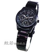SIGMA 羅馬風情 時尚鋼帶腕錶女錶-黑