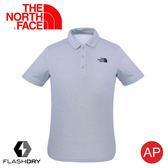 【The North Face 男 排汗POLO衫《淺灰 》】3CJ6/FlashDry/排汗快乾/運動衣/短袖上衣/休閒衣