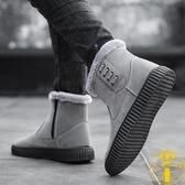 雪地靴保暖防水防滑棉靴加絨棉鞋百搭馬丁面包鞋【雲木雜貨】