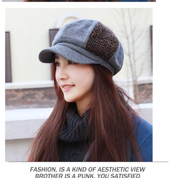帽子女冬天韓國時尚貝雷帽韓版秋冬加絨鴨舌帽八角帽顯臉小時裝帽