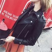 皮衣女短款外套2019新款韓版修身百搭學生pu皮小機車皮夾克外套 XN5334【VIKI菈菈】