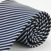 【Alpaca】黑底白細斜紋領帶