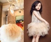 女童禮服2019夏裝連身裙寶寶公主裙兒童蕾絲鏤空洋裝背心紗裙HT740