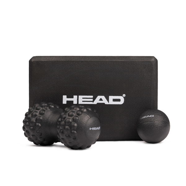 HEAD海德 筋膜按摩組 含花生球/筋膜球/瑜珈磚 30D環保EVA WELLCOME好吉康