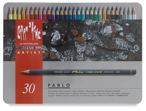 瑞士Caran d'Ache卡達專家級PABLO油性30色彩色鉛筆盒* 666.330
