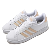 adidas 休閒鞋 Grand Court 白 橘 小白鞋 愛迪達 運動鞋 女鞋 【ACS】 GV7148