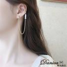 韓國女神氣質百搭金屬感簡約珍珠流蘇耳骨夾925銀針 夾式耳環 s93813 單個價 Danica 韓系飾品