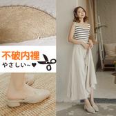 Ann'S高冷姿態-寬腳OK鱷魚壓紋方頭穆勒鞋-米