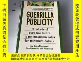 二手書博民逛書店英文原版:Guerrilla罕見Publicity【遊擊營銷:小