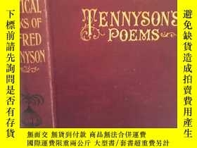 二手書博民逛書店POEMS罕見BY ALFRED TENNYSON INCLUDING IN MEMORIAM,MAUD, THE