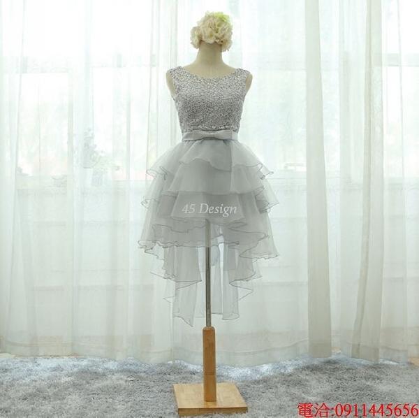 (45 Design)  7天到貨 禮服婚紗晚禮服短款晚宴年會 結婚小禮服短裙 大小顏色款式都能訂製13
