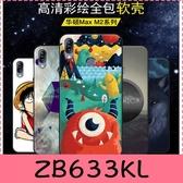 【萌萌噠】ASUS ZenFone Max M2 ZB633KL 文藝彩繪磨砂 卡通塗鴉 全包磨砂軟殼 超薄防指紋 手機殼