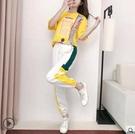休閒時尚套裝女2020年夏季新款歐洲站寬鬆減齡九分褲運動服兩件套