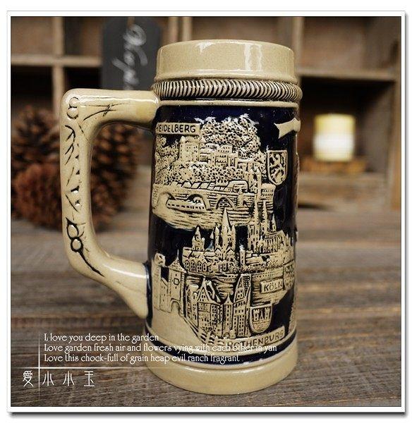 【德國法蘭克福】陶瓷德國啤酒杯創意
