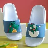 拖鞋-夏季親子可愛卡通恐龍兒童涼拖鞋女室內居家男童寶寶軟底防滑拖鞋