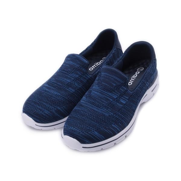 ARRIBA 織布套式休閒鞋 藍 男鞋