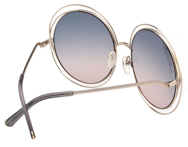 CHLOE金屬大框 太陽眼鏡-金框-雙色鏡片 CE114S-770