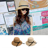 帽子 遮陽帽 蝴蝶結草帽編織沙灘帽遮陽帽【YJA-208】 BOBI 06/23