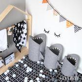 玩具收納箱臟衣服收納筐北歐家用臟衣籃放衣服的鯊魚收納桶 nm5573【VIKI菈菈】