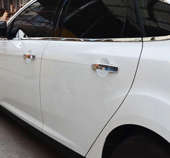 ford 福特 focus kuga 不銹鋼門把手貼 手把貼 保護貼 沂軒精品 A0228