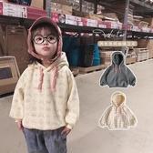 女童連帽T恤 2019新款秋裝韓版兒童洋氣加厚秋冬裝連帽上衣潮童裝 果寶時尚