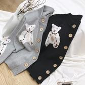 出清388 韓國風針織小熊毛衣慵懶單品外套