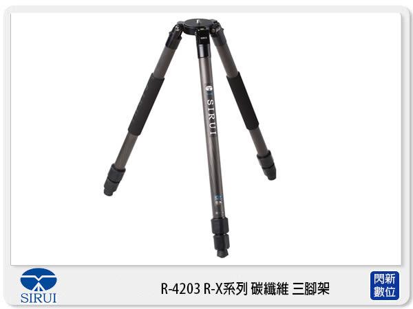 【24期0利率,免運費】Sirui 思銳 R-4203 R-X系列 碳纖維 三腳架 可低角度 (R4203,不含雲台,公司貨)