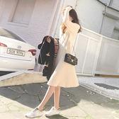 秋冬針織長袖連身裙 連體毛衣 女中長款過膝毛衣裙 降價兩天