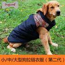 金毛狗狗衣服秋冬裝加厚中大型犬保暖拉鏈棉衣寵物服飾大狗背心