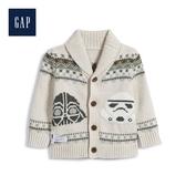 Gap男嬰兒星球大戰系列圓領長袖開襟針織衫516695-灰白色