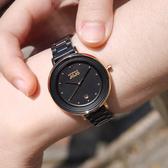 NATURALLY JOJO / JO96926-88R / 低調奢華 藍寶石水晶玻璃 日本機芯 陶瓷手錶 黑x玫瑰金框 34mm