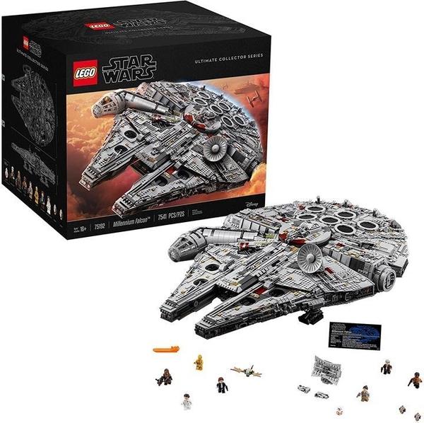 LEGO 樂高 星球大戰終極千年獵鷹75192專家組裝套件和星艦模型(7541件)