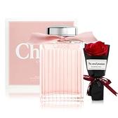Chloe' 粉漾玫瑰女性淡香水(100ml) 贈浪漫玫瑰香皂花束-情人節限定組