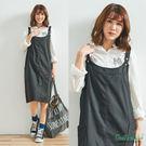 可調雙口袋吊帶裙(2色)-F【Gentle wind 輕輕.吹】