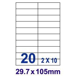 [奇奇文具]【裕德 Unistar 電腦標籤】Unistar UH30105 電腦列印標籤紙/三用標籤/20格 (100張/盒)